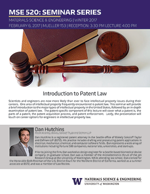 image and link for Intro to Patent Law flyer