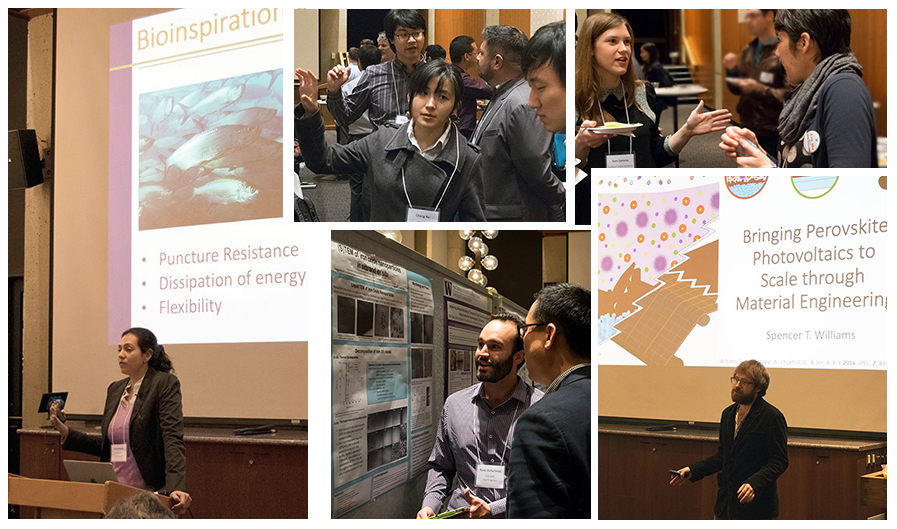 collage of photos from MSE Industry Day 2016 including presentations and poster sessions