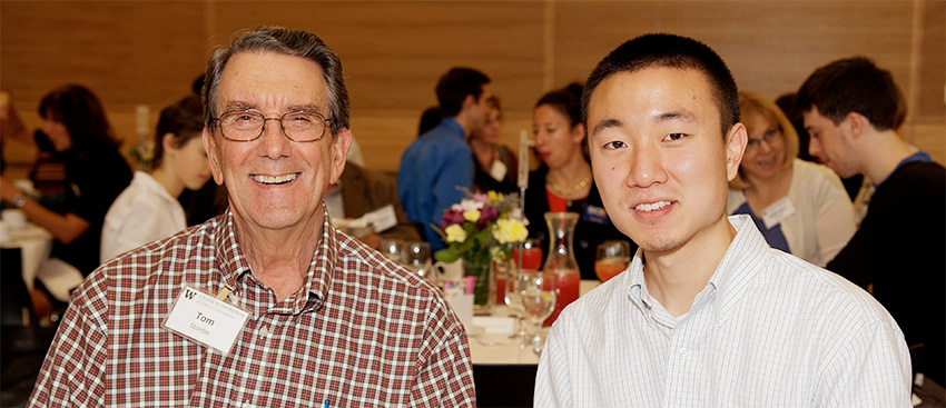 Professor Emeritus, Dr. Tom Stoebe and Stoebe Fellow, Matthew Lim
